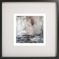 Black Framed Print with Abstract Art By Artist Sarah Jane - Storm I