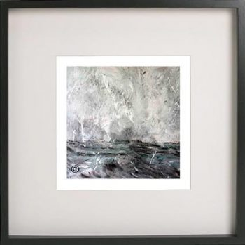 Black Framed Print with Abstract Art By Artist Sarah Jane - Storm III