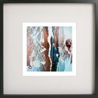 Black Framed Print with Abstract Art By Artist Sarah Jane - Tenderness VII