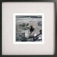 Black Framed Print with Abstract Art By Artist Sarah Jane - Tenderness X