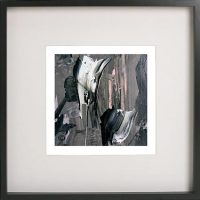 Black Framed Print with Abstract Art By Artist Sarah Jane - Tenderness XI