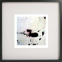 Black Framed Print with Abstract Art By Artist Sarah Jane - Unconditional Love II