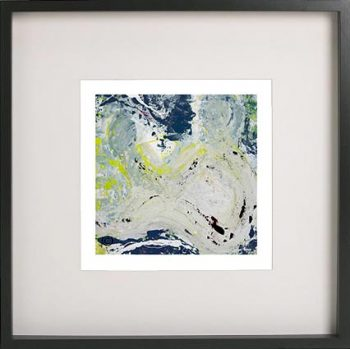 Black Framed Print with Abstract Art By Artist Sarah Jane - Unconditional Love Ia