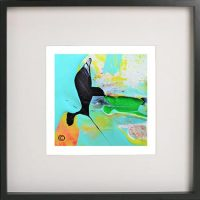 Black Framed Print with Abstract Art By Artist Sarah Jane - Unconditional Love LIV