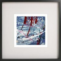 Black Framed Print with Abstract Art By Artist Sarah Jane - Unconditional Love Vb