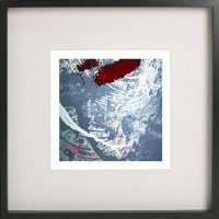 Black Framed Print with Abstract Art By Artist Sarah Jane - Unconditional Love XVIb