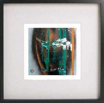 Black Framed Print with Abstract Art By Artist Sarah Jane - United we Stand II