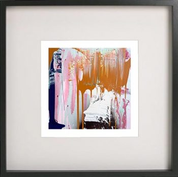 Black Framed Print with Abstract Art By Artist Sarah Jane - United we Stand IIIa