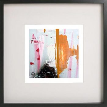 Black Framed Print with Abstract Art By Artist Sarah Jane - United we Stand V