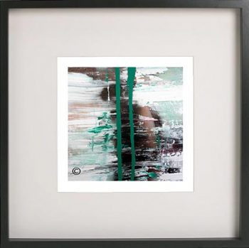Black Framed Print with Abstract Art By Artist Sarah Jane - United we Stand VII