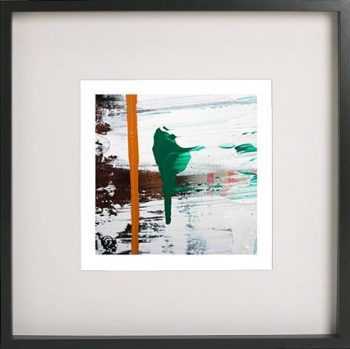 Black Framed Print with Abstract Art By Artist Sarah Jane - United we Stand XVIII