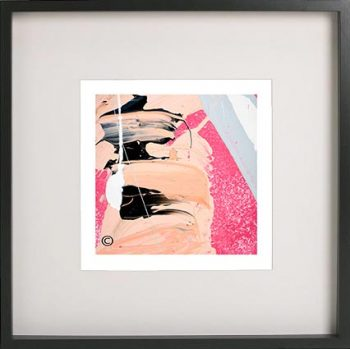 Black Framed Print with Abstract Art By Artist Sarah Jane - Wanderers VI