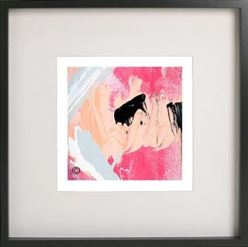 Black Framed Print with Abstract Art By Artist Sarah Jane - Wanderers XI