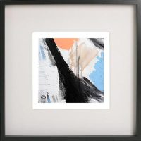 Black Framed Print with Abstract Art By Artist Sarah Jane - Warrior II