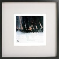 Black Framed Print with Abstract Art By Artist Sarah Jane - Warrior VII