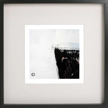 Black Framed Print with Abstract Art By Artist Sarah Jane - Warrior XV