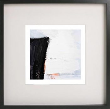 Black Framed Print with Abstract Art By Artist Sarah Jane - Warrior XVI