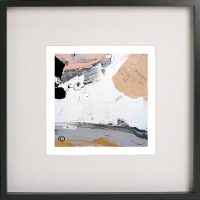 Black Framed Print with Modern Art By Artist Sarah Jane - Beautiful VI