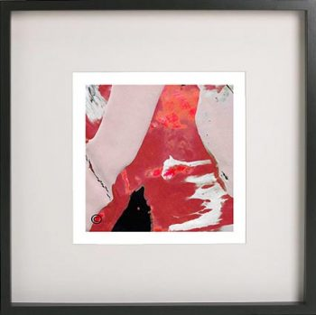 Black Framed Print with Trendy Abstract Art By Artist Sarah Jane - Unconditional Love LVb