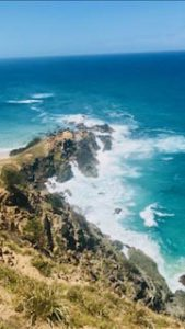 Byron Bay Coastline inspired the painting Coast By Artist Sarah Jane