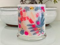 Candleholder with Sarah Jane artwork - Pollination I