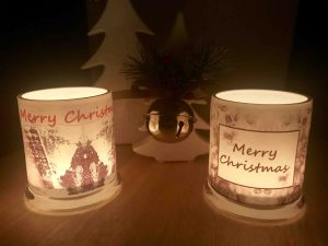 Christmas Candles By Sarah Jane At Night