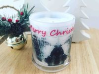 Christmas Tree Candle By Sarah Jane Adelaide Artist with natural soy wax