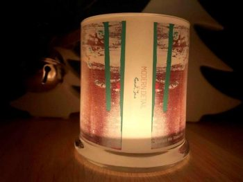 Christmas Tree Candle at Night back view