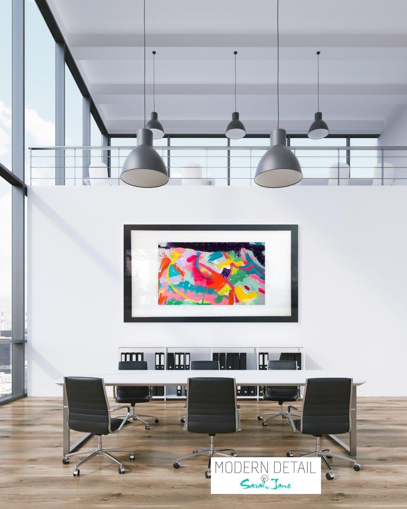 Colourful Art for a boardroom from Modern Detail By Sarah Jane - Colour me Happy I