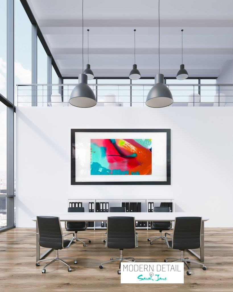 Colourful Art for a boardroom from Modern Detail By Sarah Jane - Colour me Happy V