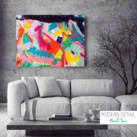 Colourful Modern Abstract Painting by Artist Sarah Jane called Colour me Happy - MODERN DETAIL BY SARAH JANE