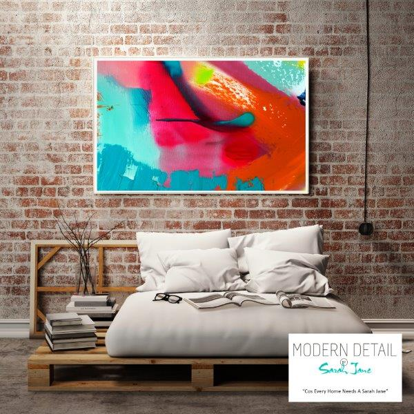 Colourful Print for the bedroom By Sarah Jane - Colour me Happy V