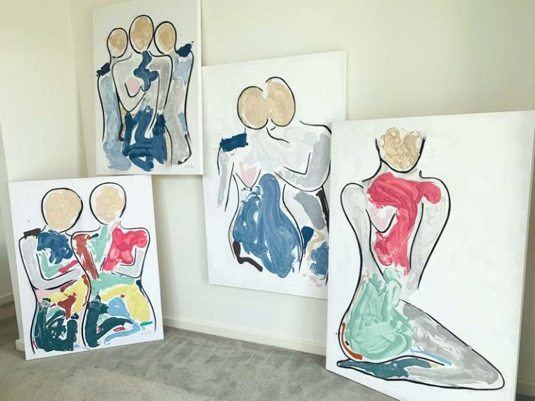 contemporary art lovers collections - bodyline and bodyline bold by australian artist sarah jane