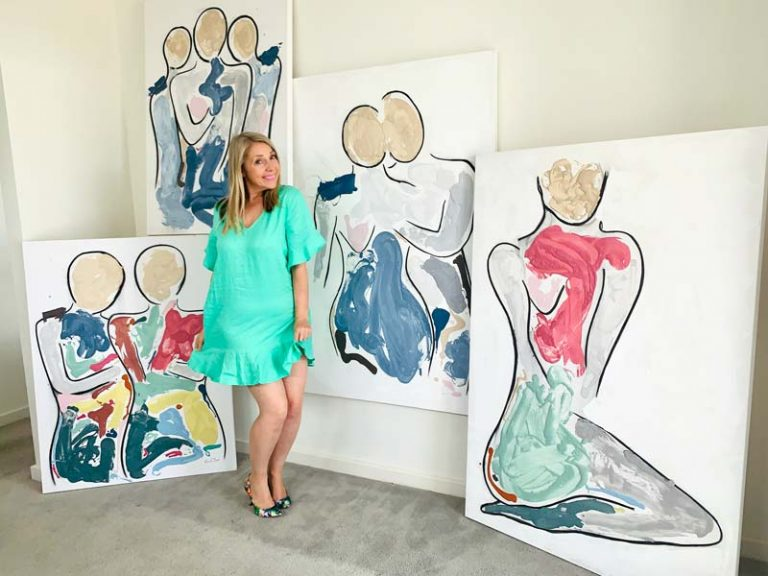 contemporary figurative art collection by australian artist sarah jane - bodyline and bodyline bold