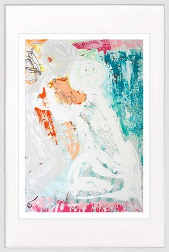 Couple Print modern - Sarah Jane Artist - Reaching Out I - White frame
