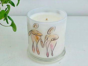 Designer Candles Australia By Sarah Jane Adelaide Artist with family artwork Familia Ia