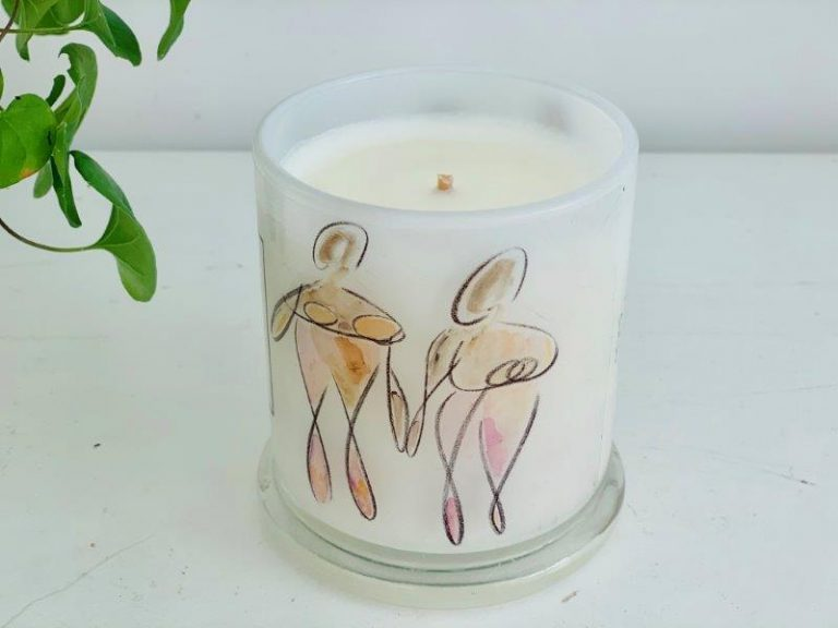 Designer Candles Australia By Sarah Jane Adelaide Artist with family artwork Familia Ia