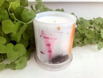 Designer Candles Australia By Sarah Jane Australian Artist with colourful abstract artwork United we Stand V
