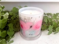 Designer Candles By Sarah Jane Flamingo Artwork On the Move II
