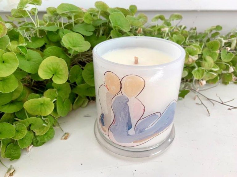 Designer Candles By Sarah Jane People art Bodyline II