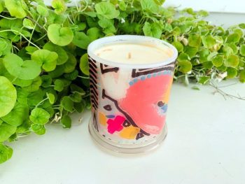 Designer Candles By Sarah Jane - colourful art - Maze Ia