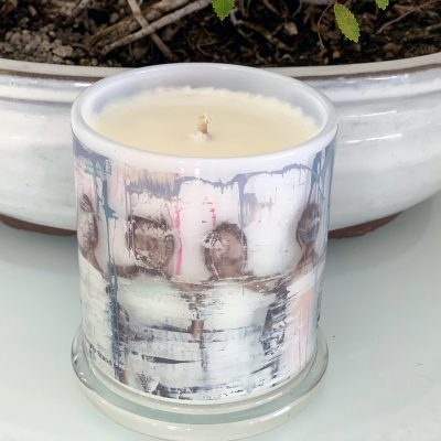 Designer Candles By Sarah Jane with soft artwork United We Stand Ia