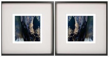 Display Pair of Prints by Artist Sarah Jane with Black Frame and Glass - Faceless Xg