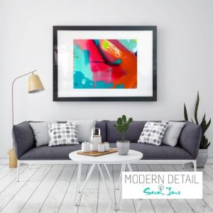 Glass Art Print By Abstract Artist Sarah Jane from Modern Detail By Sarah Jane - Colour me Happy V