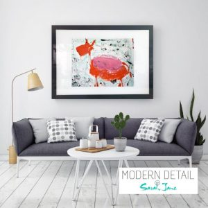 Glass Art Print By Abstract Artist Sarah Jane from Modern Detail By Sarah Jane - Goatey I