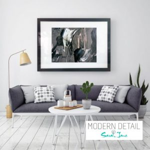Glass Art Print By Abstract Artist Sarah Jane from Modern Detail By Sarah Jane - Tenderness XI