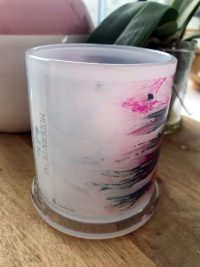 Glass Candleholder with Artwork By Sarah Jane - Freedom VIc Front View