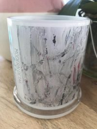 Glass Candleholder with Artwork By Sarah Jane - New Life IV Front View