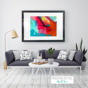 Glass Print with Colourful Modern Art from Modern Detail By Sarah Jane - Colour me Happy V