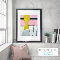 Glass Print with Funky Art from Modern Detail By Sarah Jane - Cozzie IId